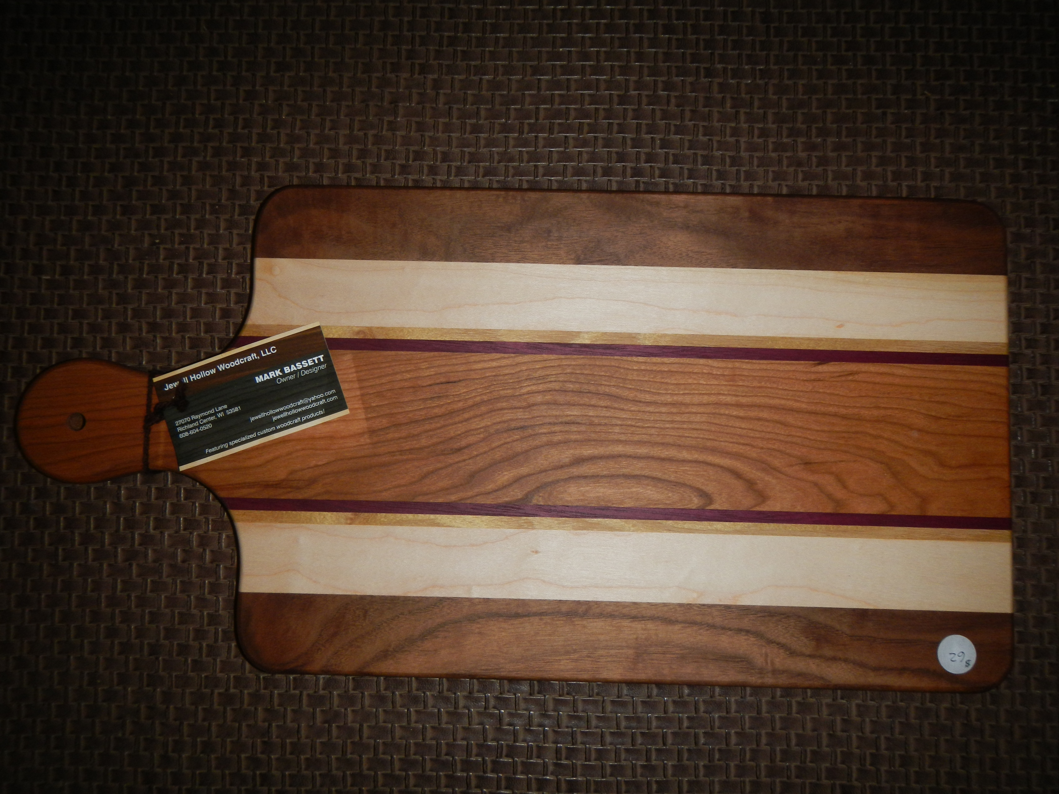 Large Wooden Bread Cutting Board 10x20